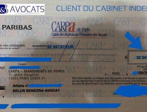 Sept 2018 – Indemnisation de 32.347 euros : litige vol de véhicule